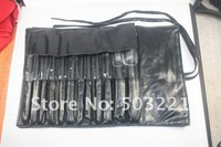 Кисти для макияжа 12 PCS Professioal Makeup Brush Set with Black Leather Case, Dropshipping