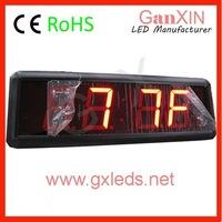 2.3inch indoor red brightness countdown wall mounted clock led