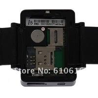 Мобильный телефон New i5 1.75 inch Java FM Single Card Touch Screen Watch Cell Phone Black