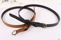 Женские ремни и Камербанды Sunflower's Store+12 pcs 50% OFF, PU leather belt for fashion lady, brown and black stock, ladies' belt, PU leather belt
