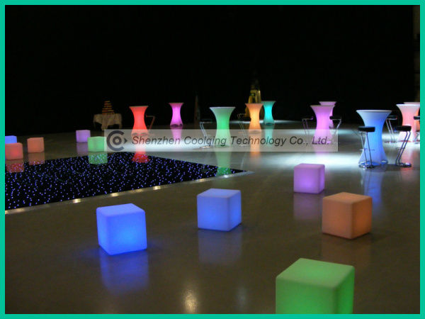 GREAT! 2013 LED Commercial High Top Bar Tables with 16 Color Changing and IR Remote