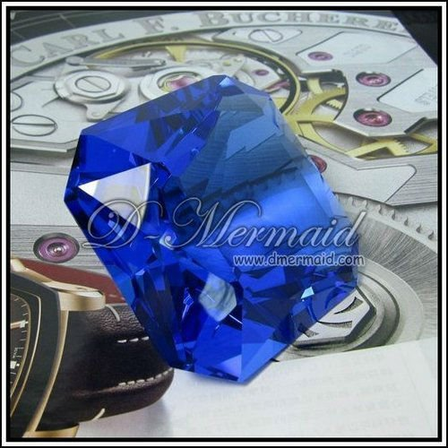 80mm square blue crystal diamond wedding gift,moden and fashion Christmas gift,home decoration