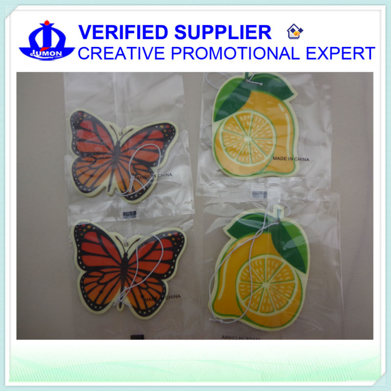 Promotional Paper Air Freshener/ Custom Car Freshener