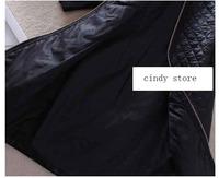 Зима Европы и Америки женщин старинные элегантный тощий толстые Пу кожа Лоскутная плюс размер платье карандаш