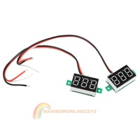 Офисные и Школьные принадлежности R1B1 10x V20D 3-Cable 0.36 inch 3-Digit LED Red Light DC0-100V Digital Voltmeter
