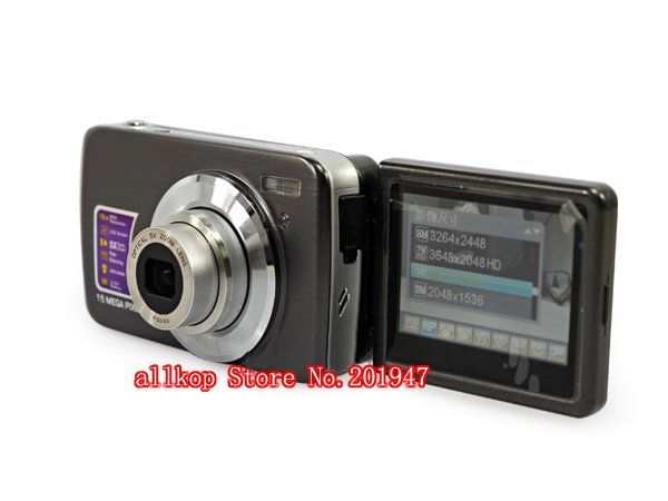 Cheap Camera digital camera with Lead self-time screen  still camera dc camera DC-5700 Anti-shake Face Detection