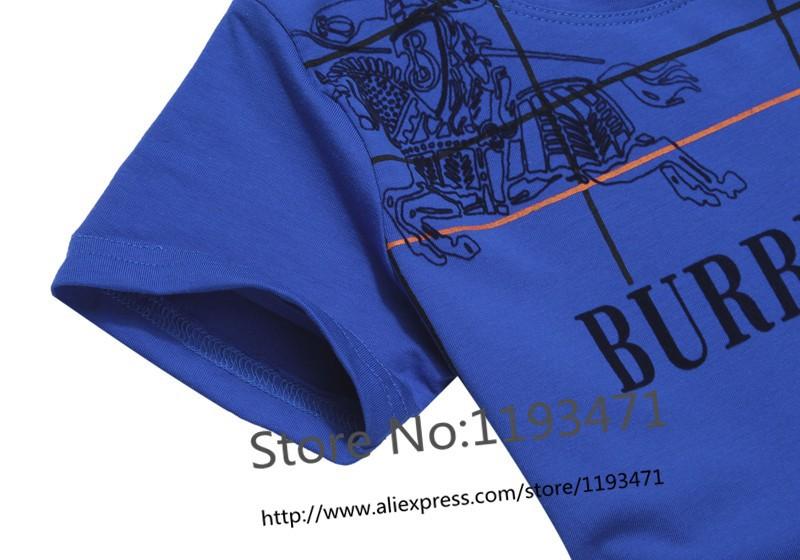 Топ хлопок текущего лета новые образцы текущее лето логотип бренда Лондон для мальчика t рубашка ребенка знаменитые роскошные рубашки детей