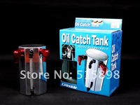 1000ml Unverisal Aluminum Alloy Reservior Oil Catch Can Tank Silver