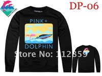 Мужская футболка 2012 new arrived Men long sleeve Shirts fashion long Pink DOLPHIN t-shirts leisure TEE shirt