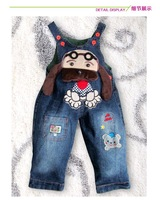 Комбинезон для мальчиков ON SELL 2013 New Arrive Baby Boy / Girl Jeans Boys Demin Overalls For 1-3Years