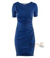 Женское платье 2012 fit elegant comfortable short-sleeve dress lining