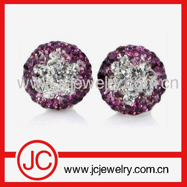 2012 new shamballa cancer logo bead for bracelet
