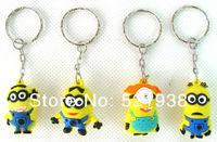 Фигурка героя мультфильма Despicable Me Keychain Movie Anime Minions Figure Pendants 8pcs/Set