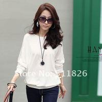 Fashion Women's Trendy Long Sleeve Loose T-Shirt Batwing Tops Blouses Free Shipping 5102