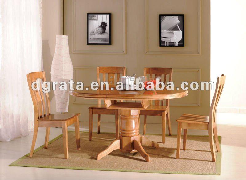 2012 nuevo diseño redondo mesa comedor diseños en caucho importado ...