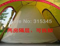 Розничная торговля высокое качество 2 комната мгновенно палатки автоматические кемпинг палатка 6 человек двойной слой 3 двери + 1window