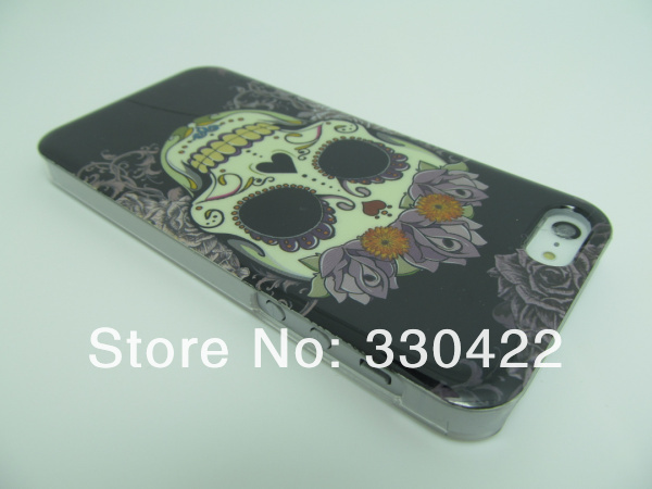Stylish Skull Design Pirate Ghost Skull Skeleton Head Case Skull Bone Back Cover Case Skullcandy Plastic Hard Case for Iphone5 Iphone 5 5G (5).jpg