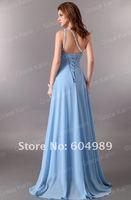 1шт Свадьба один плечо сторона платье яркий выпускной мяч, вечерний коктейль платье невесты 8 размер, зашнуровать задней cl2949