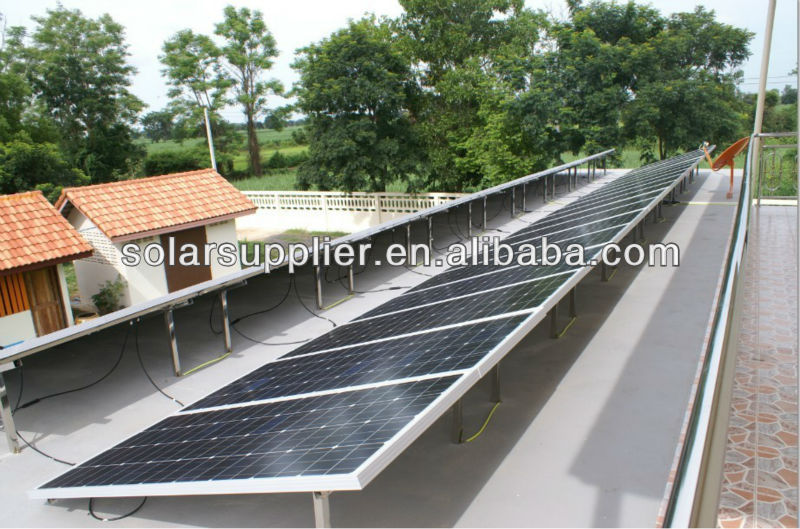 High efficiency 200w poly solar panel price per watt for small system 5kw 10kw off grid solar energy system