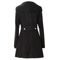 Hot sale! Double breasted overcoat outerwear! Black women's wool coat for winter Warm Coat /Jacket 6005
