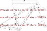 """Рама для велосипеда FR/211 3K 29er MTB 29er BB30 + /16"""", 18"""", 20"""""""