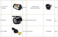 Video parking sensor system CF5600 Rearview Mirror with 7 inch TFT Monitors video parking system
