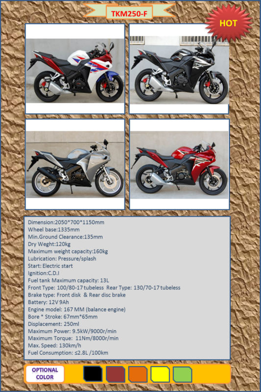 250cc racing motorcycle/popular motorcycle TKM250-F