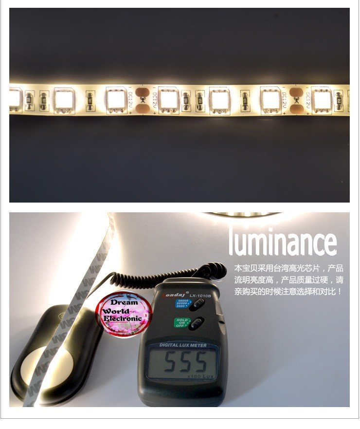 free shipping Flexible led strip  green color IP65 Waterproof LED strip 5M SMD 3528 150 LED Lighting