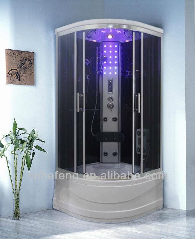 Hef cabine de douche avec massage radio lumi re et t l phone salle de douche - Douche avec jet de massage ...