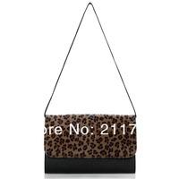 Клатч Big Size New Fashion Womens Girls Leopard Print Clutch Purse Envelope Shoulder Bag