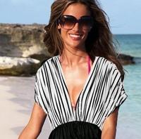 Deep V-Neck Hot Sexy Summer Beach Polyester Dresses