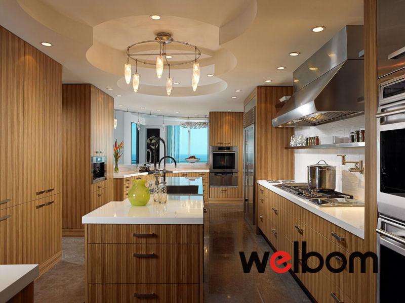 Chapa de madera de cebra uv de alto brillo muebles de cocina ...