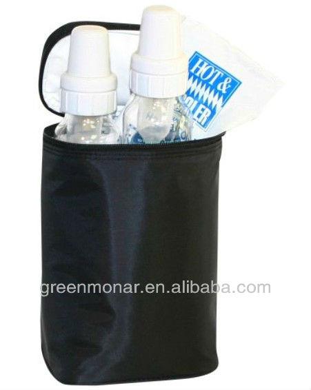 flexible tote 2 bottl cooler bag ice bag for feeder and medicine keep cool