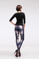 2014 New Arrival Florid Printed Women's Grey Galaxy Nebula Leggings Skinny Tight Pants for Women and Girls JH-05