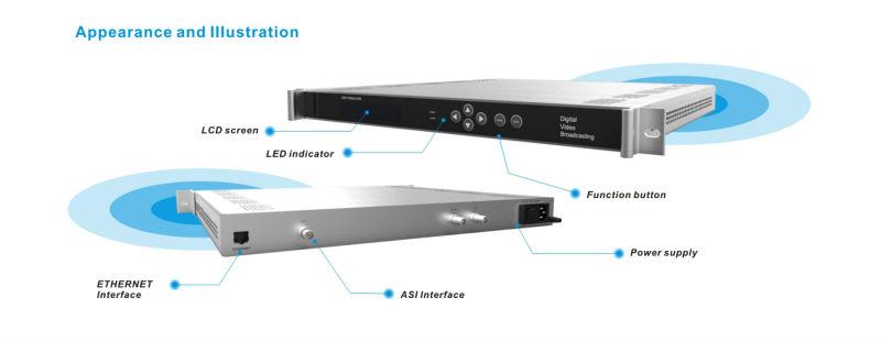 Low cost multi channel ASI input DVB-C QAM modulator output 4 channel RF