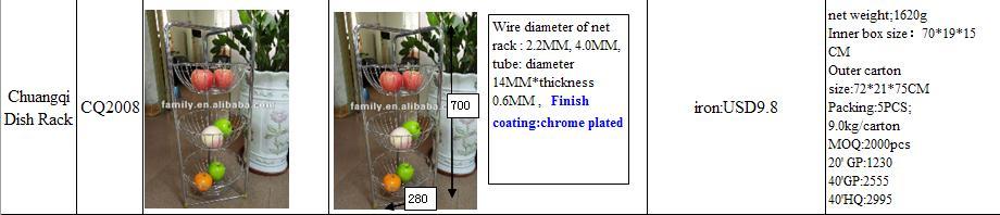 3 layer fruit basket CQ2008