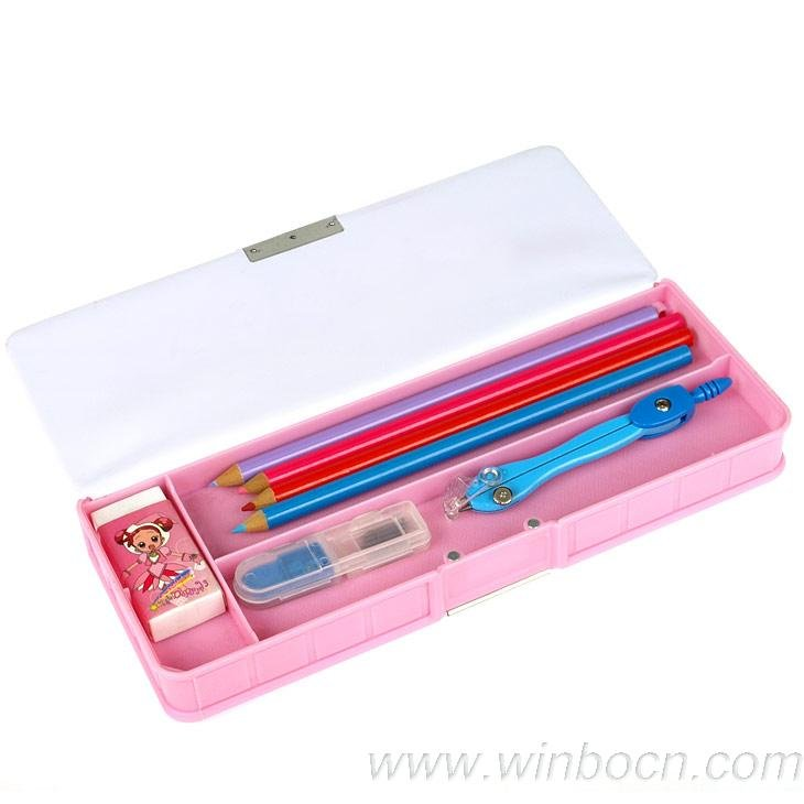 students plastic PVC pencil box pencil case