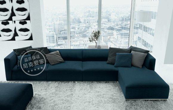 moderno negro tela  sof juego de muebles