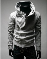 2012 men's hoodie .men's jackets, mens sweater hoodie.  men's dust coat, Hooded jacket coat US size M.L.XL.XXLY0759