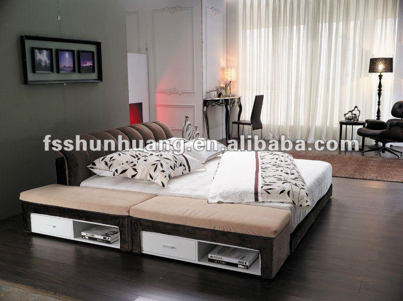 Красивые спальни ткани кровать