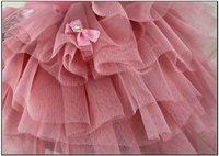 baby girls gauze skirt sweet bows mini skirt kids tutu pettiskirt ball gown children clothing free shipping