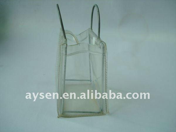 Plástico saco de mão para fazer compras