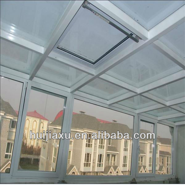 Beautiful Prefab Glass House,Color Aluminum Sunrooms,Laminated Glass Outside Room/Green House