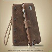 Чехол для для мобильных телефонов Vintage Genuine leather Case Galaxy Note N7000 I9220 zenus case for i9220