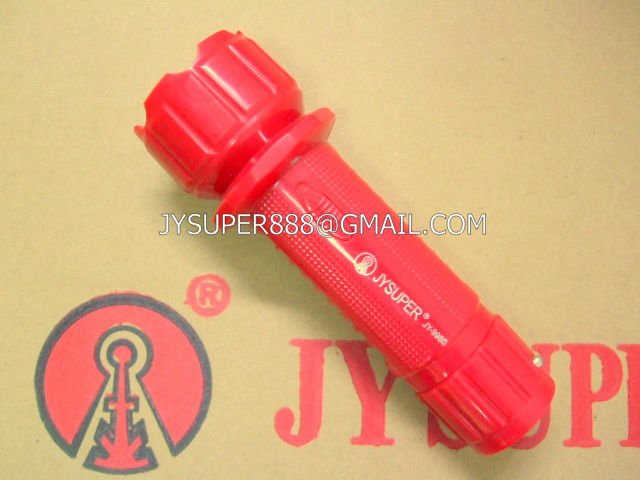 Plastic JYSUPER led torch light rechargeable battery JY 9980