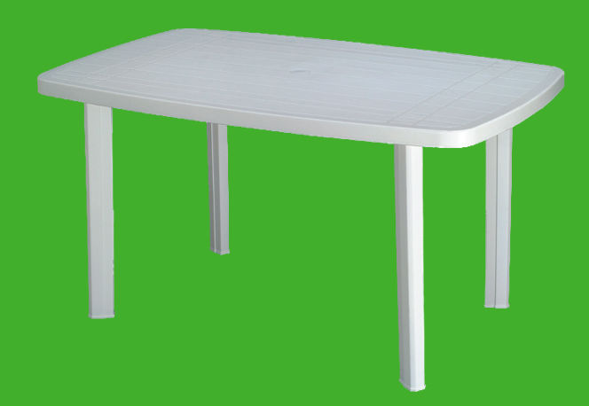 Table plastique jardin table de lit for Table exterieur plastique noir