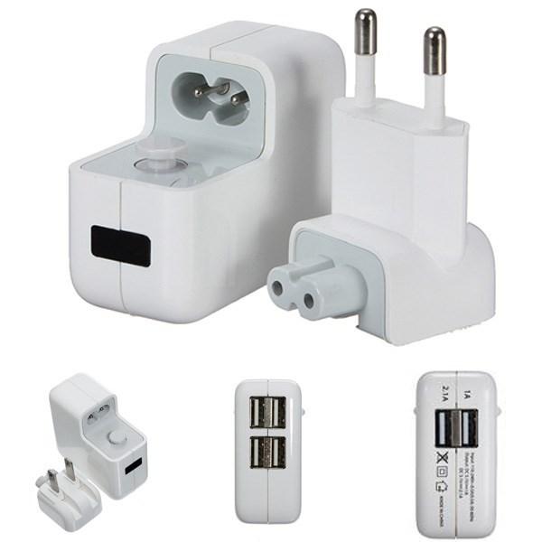 Зарядное устройство для мобильных телефонов 4 USB Ports US/EU Plug Home Travel Wall AC Power Charger Adapter