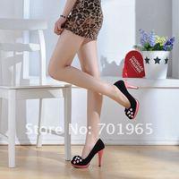 Туфли на высоком каблуке High Single-Button Bow Shoes