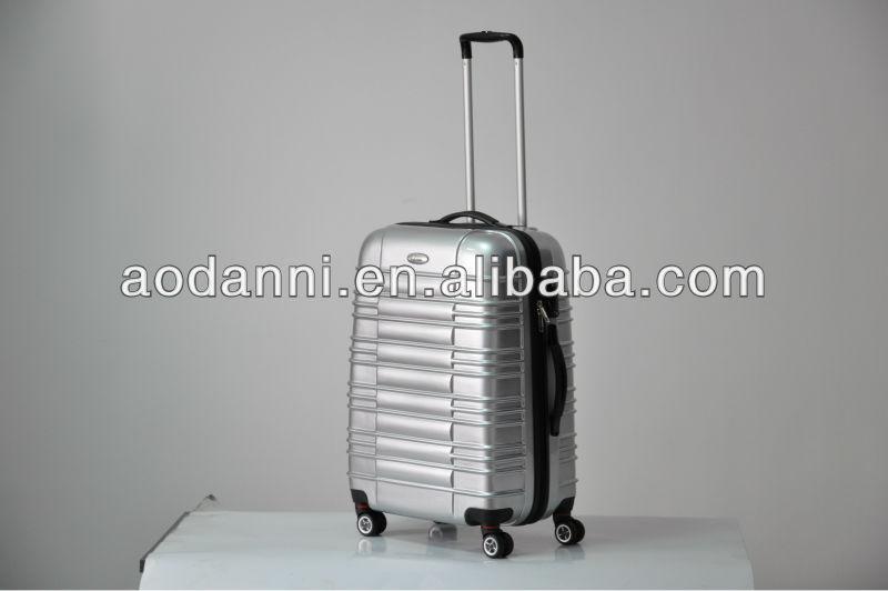 silver travel luggage with tsa lock
