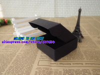 Упаковочная коробка 6x6.6x2.5cm, Black kraft paper Boxes Gift Soap Boxes Essential oil Candy Jewel Packing Box